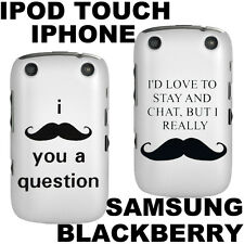 Funny Moustache Case iPhone Case Samsung Galaxy Cover Blackberry Skin Two Styles