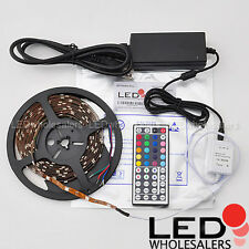 16.4 ft LED Flexible Light Strip RGB Color Changing Kit Controller + Power Lot