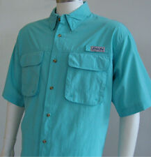 BIMINI BAY OUTFITTERS SS Flats II Vented Fishing Shirt NWT AQUA BLUE select size