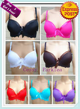 Black White Blue Purple Red Hot Pink Brown Lace Back T-shirt Bras Size10-18B/C/D
