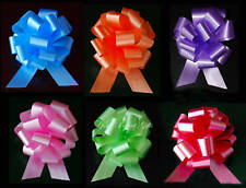 "10 PULL BOWS PER COLOR 5"" BASKET PARTY BALLOON GIFT DECORATIONS WEDDING PEW CAKE"