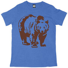 BROWN BEAR MENS ANIMAL FASHION PRINT T-SHIRT