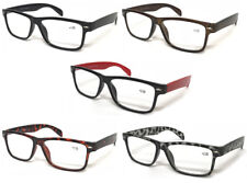 L142 Wayfarer Reading Glasses +50+75+100+125+150+200+250+300+350+400 Large Frame