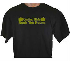 Curling Girls Rock The House Curl Ice Sport T-Shirt