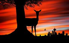 Deer Home Decor Canvas Print, choose your size.