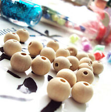 crafts&gifts 14mm natural Color Round Wood Beads Fashion Wooden Findings For DIY