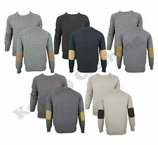 MENS SMITH & JOHN 'LORENCIO' KNITTED JUMPER WITH ELBOW PATCH,S M L XL RRP £23.99