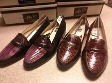 New in Box ! Vintage Aldo Ponti Snakeskin and Leather Loafers