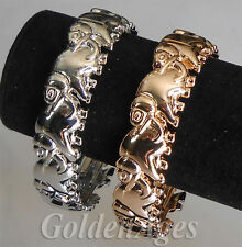 Sterling Silver Plated & Rose Gold Plated Good Luck Elephant Bangles Bracelets