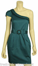 """French Connection Women's """"Olympic Flame"""" One Shoulder Belted Dress, BangkokBlue"""