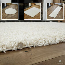 MODERN SMALL EXTRA X LARGE RUG - THICK 5CM PILE CREAM COLOUR SHAGGY RUGS