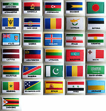 Country Flag Large SEW ON Embroidered Cloth Patch Badge Appliqué ▪ 7.2cm x 5cm