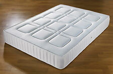 QUILTED POCKET SPRUNG MATTRESS 3FT SINGLE 4FT 4FT6 DOUBLE 5FT KING SIZE 10""