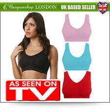 Women's Ladies Bra Comfort Colour Seamless Padded&Removable Cups Size M/L/XL/XXL