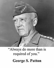 "General George S. Patton "" always do more than"" Quote Photo Picture #hs2"