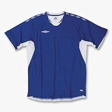 NEW Mens UMBRO Legacy Training Royal White S/S Soccer Shirt Jersey Climate Contr