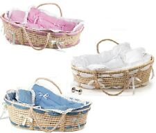 ~~ONE (1) MOSES BASKET BABY BASSINETTE, MATTRESS AND BEDDING ~IMMEDIATE SHIP!