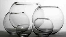 OASIS GLASS VASE FISH BUBBLE BOWL WEDDING TABLE CENTREPIECE VASES CLEAR -6 SIZES