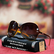 New Designer Vintage Oversized Womens Sunglasses Retro Large DG Eyewear Shades