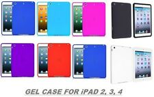 FOR iPAD GEL SILICONE RUBBER BACK CASE FOR APPLE iPAD 2, 3, 4