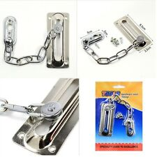 Security Interior Door Gate Metal Dead Bolt Lock Plate Slide Chain Home Guard