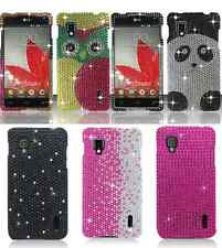 For LG Optimus G LS970 Cartoon Print Diamond Bling Hard Snap On Cover Case