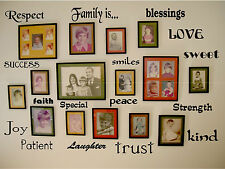WALL ART Decals Lettering Words  HOME FAMILY QUOTE removable mural