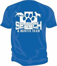 SAR - Search & Rescue: K9 SEARCH TEAM Screen Printed T-Shirt, ROYAL BLUE