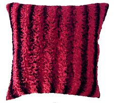 EN04 Dark Red Crushed Velvet Style Embossed Pattern Cushion Covers *Custom Size*