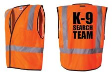 SAR - K9 SEARCH & RESCUE TEAM REFLECTIVE MESH SAFETY VESTS - SAFETY ORANGE