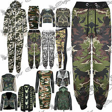 Womens Ladies Army Camo Jog Pant Track Suit Gym Sports Jogging Bottom Trousers
