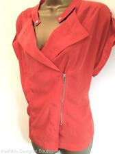 KAREN MILLEN Orange Soft Shirt Smart Casual Summer party Blouse Top Size 10 UK