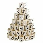 Scrabble Starter Mug Coffee Tea Cup Choose From All 26 Letters By Wild and Wolf