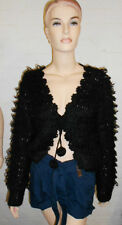 Loopy Knitted Black Cardigan by Brave Soul Size XS & S