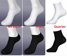6-12 pairs mens womens no show sport socks size 9-11 crew ankle low cut peds