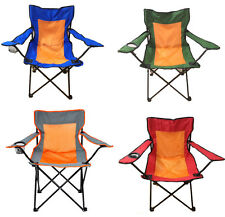PORTABLE CAMPING CHAIR GARDEN FOLDING DIRECTORS WITH CUP HOLDER IN 4 COLOURS