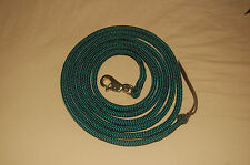14' HUNTER GREEN TRAINING YACHT ROPE LEAD WITH BULL SNAP FOR PARELLI METHOD