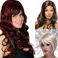 2015 Hot Style Fashion Womens Girls Sexy Long Short Full Wavy Straight Hair Wig