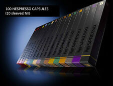 100 NESPRESSO CAPSULES - SELECTION - 10 sleeves New in Box
