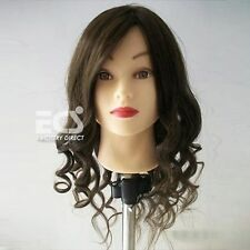 "100% Real Human Hair 24"" Hairdressing Practice Training Head Mannequin + Clamp"