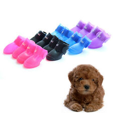 Cute Dog Boots Waterproof Protective Rubber Pet Rain Shoes Booties Candy Colors