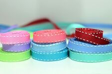"""12 Yards of 3/8"""" stitch Grosgrain Trimming Ribbon in 9 Color Tones"""