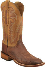 Lucchese 1883 C1304.W8 Mens Barnwood Burnished Smooth Ostrich Boots Made in USA