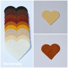Felt Wool Mix 12 inch / 30cm Squares ~ Neutral Shades Brown, Creams - 11 Colours