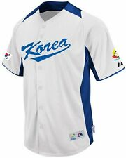 Team Korea Majestic 2013 World Baseball Classic Home On Field Authentic Jersey