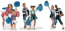 Cheerleader Kleid Kostüm Uniform Trikot Girl Dress Kostuem Cheerleaderin Pompons