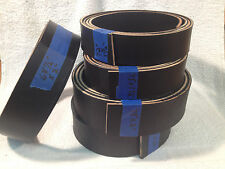 "9-10 oz Black Veg Tan English Bridle Leather Belt Blanks up to 100"" drum dyed"