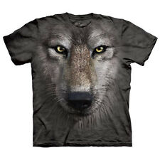 Wolf Face Child  Animals Unisex T Shirt The Mountain