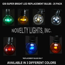 25 Pack G50 LED Outdoor Globe Patio Party Restaurant Replacement Bulbs