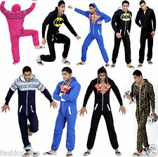 NEW UNISEX MENS AND WOMENS LADIES ONESIE JUMPSUIT SUPERMAN & BATMAN JUMPSUIT